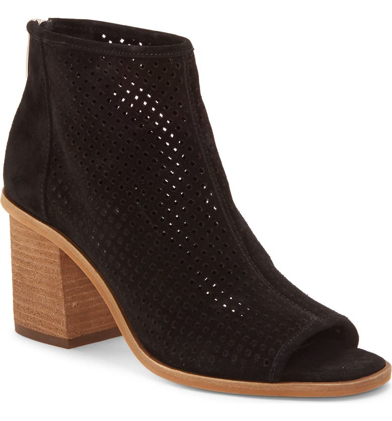 VINCE CAMUTO Kareste Peep Toe Bootie, Main, color, 001