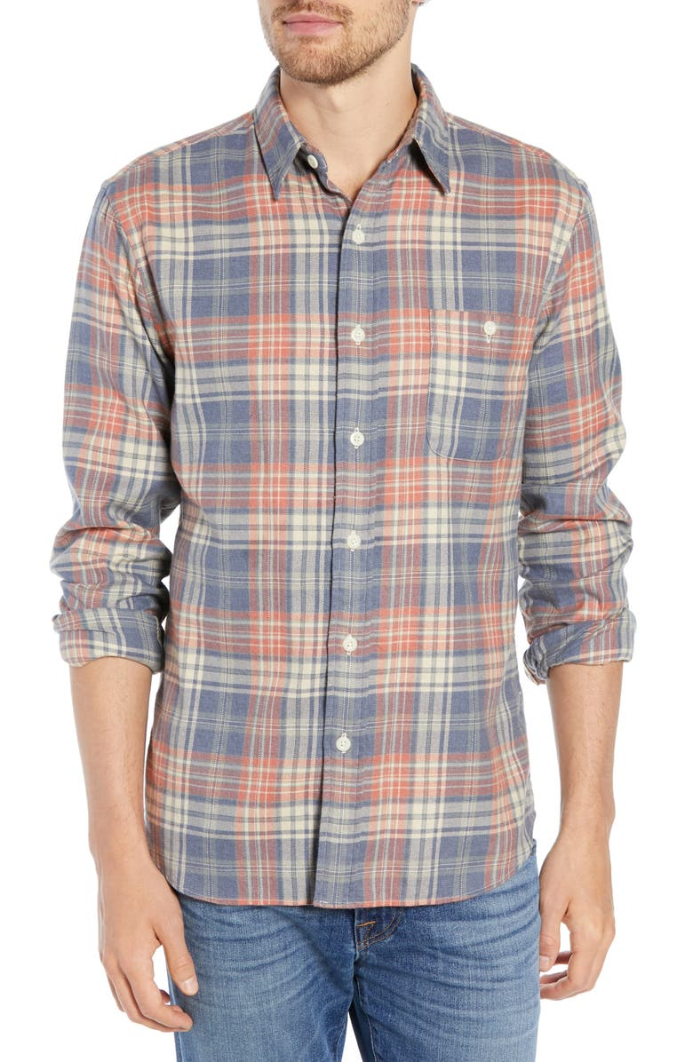 FAHERTY Seaview Regular Fit Stretch Flannel Shirt, Main, color, 400