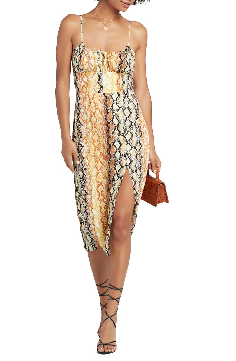 L SPACE Portola Cover-Up Dress, Main, color, PRETTY IN PYTHON
