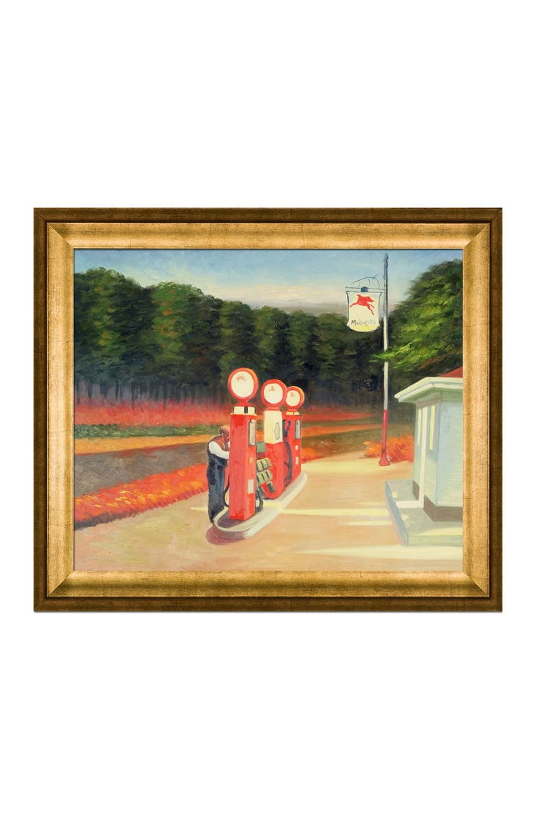 OVERSTOCK ART Gas, 1940 - Framed Oil Reproduction of an Original Painting by Edward Hopper, Main, color, MULTI