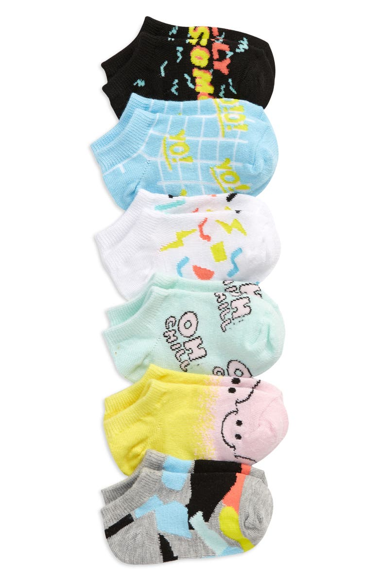 TUCKER + TATE Kids' Critter 6-Pack Low Cut Socks, Main, color, AWESOME PACK