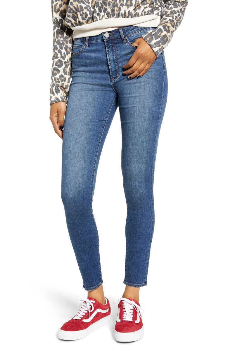 ARTICLES OF SOCIETY Hillary High Waist Ankle Jeggings, Main, color, 400