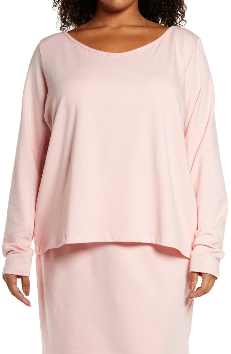 ZELIE FOR SHE Wilderness Cozy Long Sleeve Top, Main, color, PINK