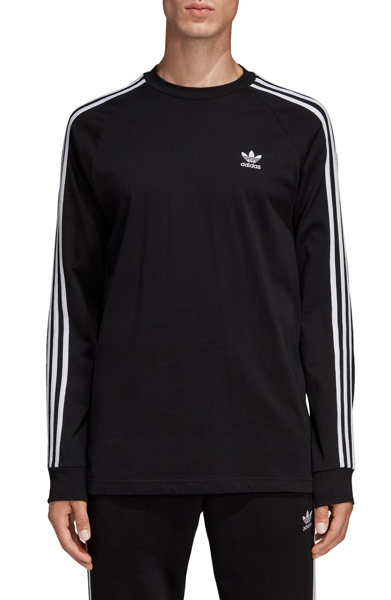 facultativo Lugar de la noche temperamento  adidas Originals 3-Stripes Long Sleeve T-Shirt | Nordstrom