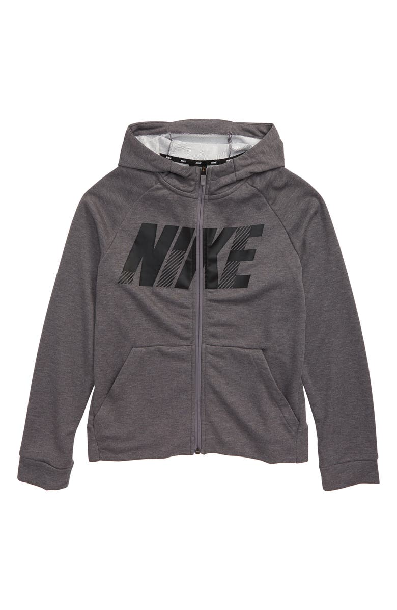 NIKE Dri-FIT Full Zip Hoodie, Main, color, 057