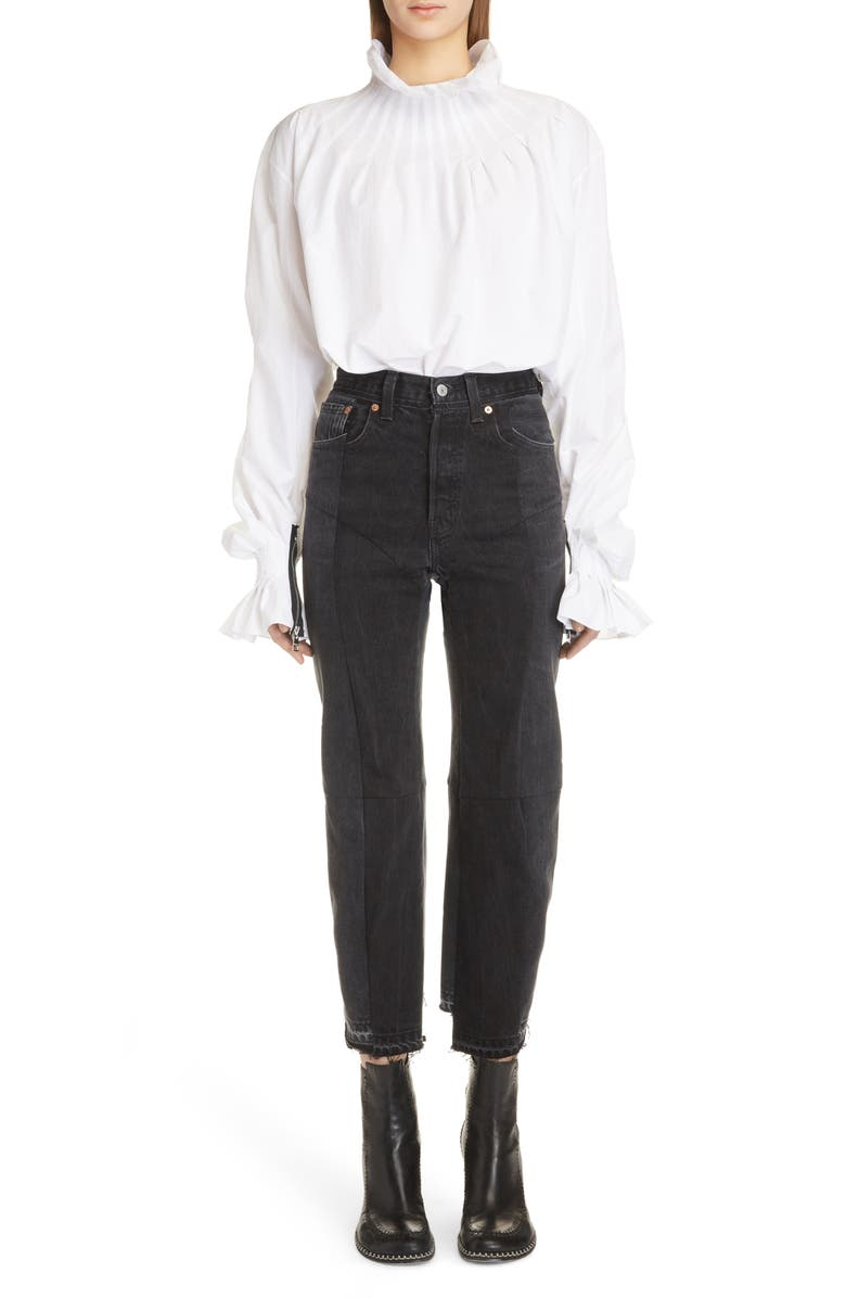 JW ANDERSON Pleated Collar Blouse, Main, color, White