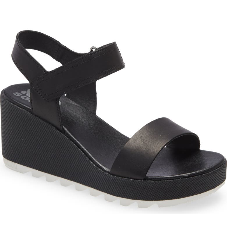 SOREL Cameron Wedge Sandal, Main, color, BLACK