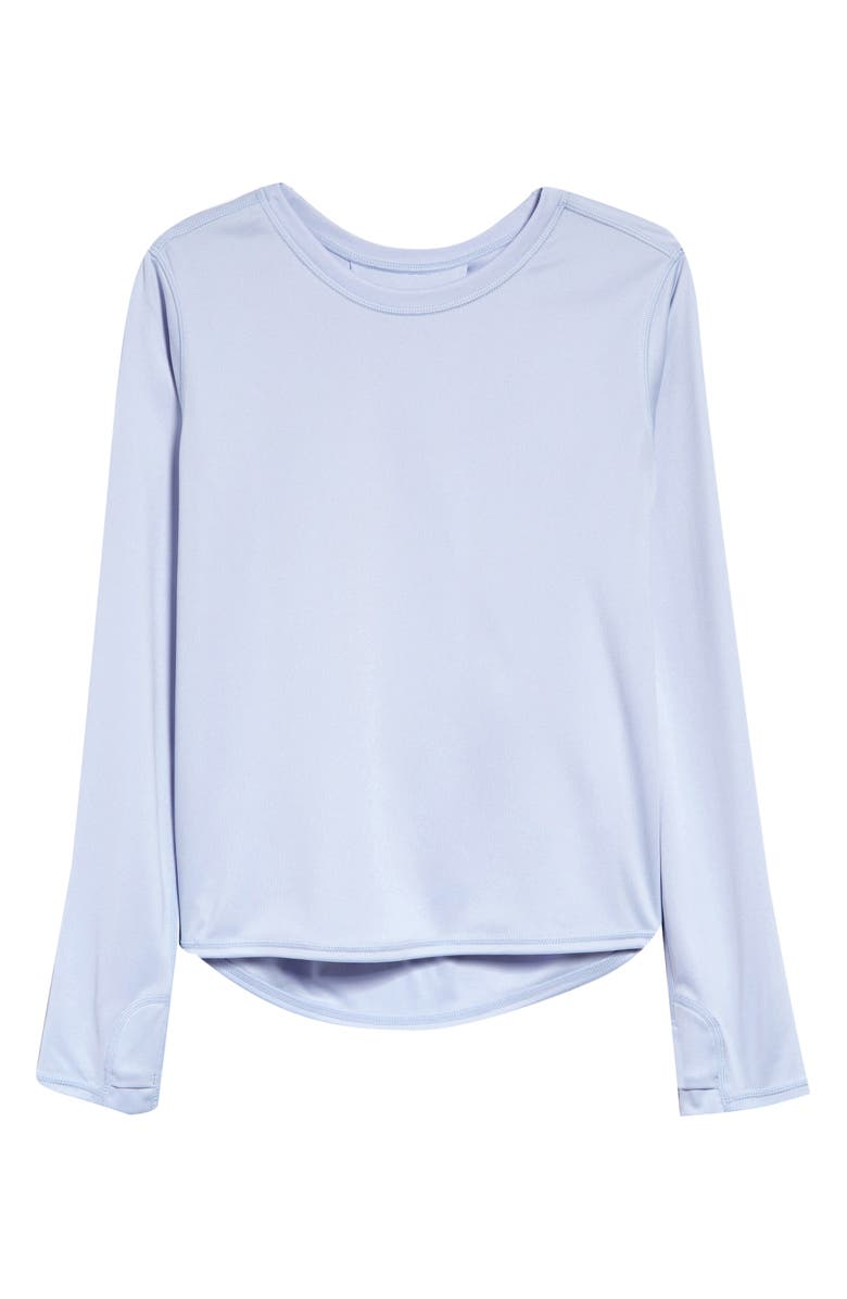 ZELLA GIRL Helix Long Sleeve T-Shirt, Main, color, BLUE FEATHER