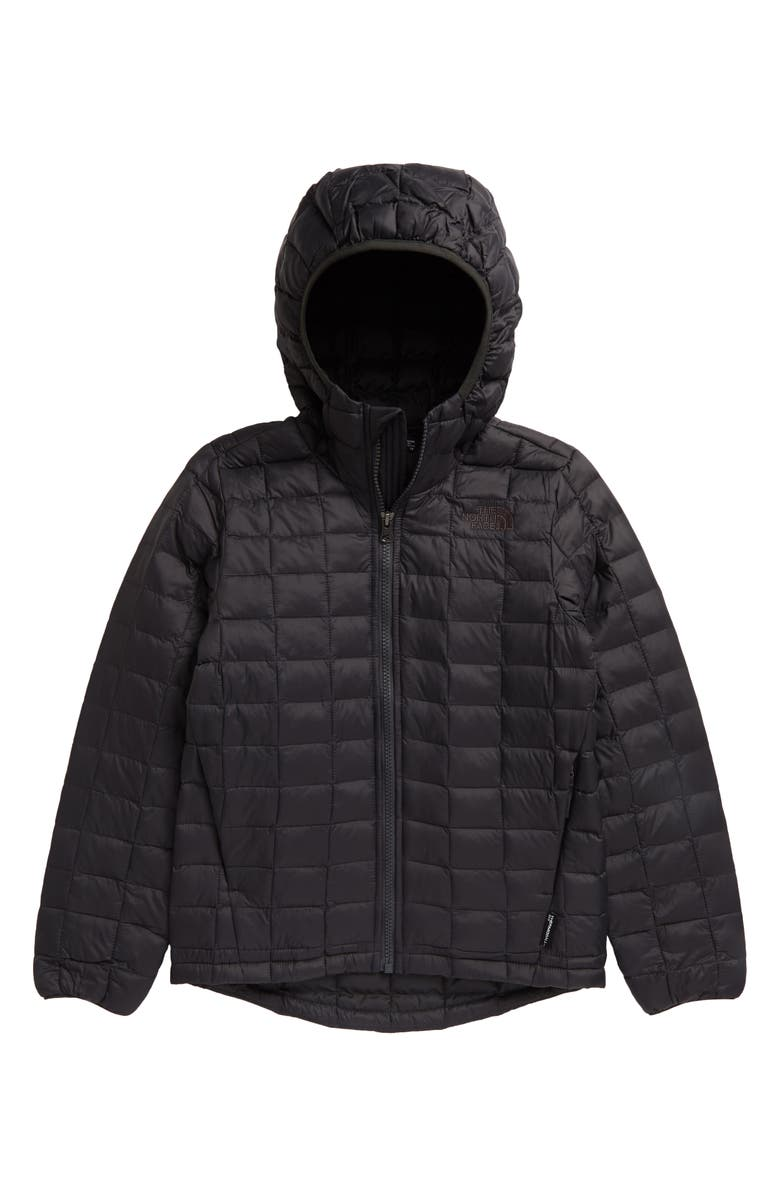 THE NORTH FACE Kids' ThermoBall<sup>™</sup> Eco Hooded Jacket, Main, color, ASPHALT BLACK