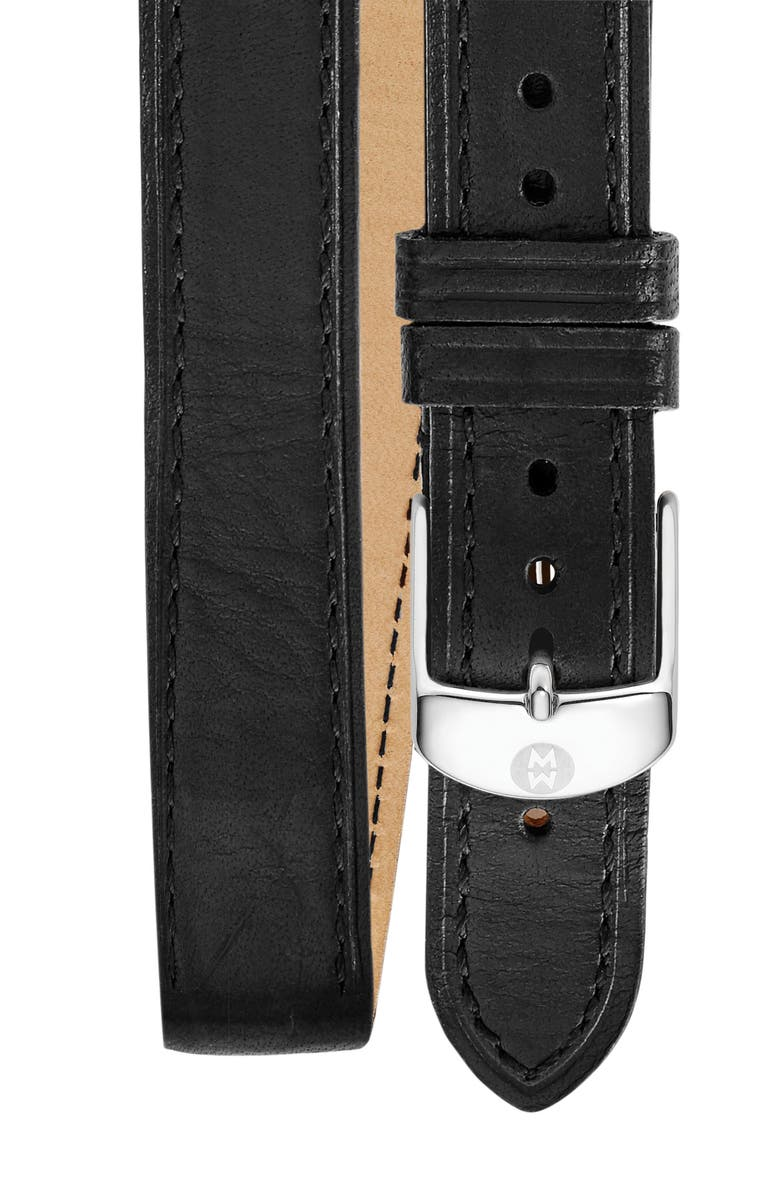 MICHELE 16mm Double Wrap Leather Watch Strap, Main, color, 004