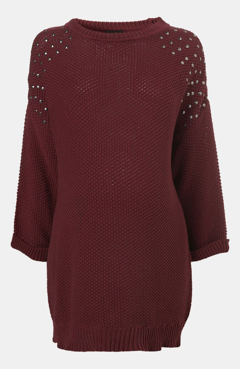 TOPSHOP 'Grunge' Studded Maternity Sweater, Main, color, 930