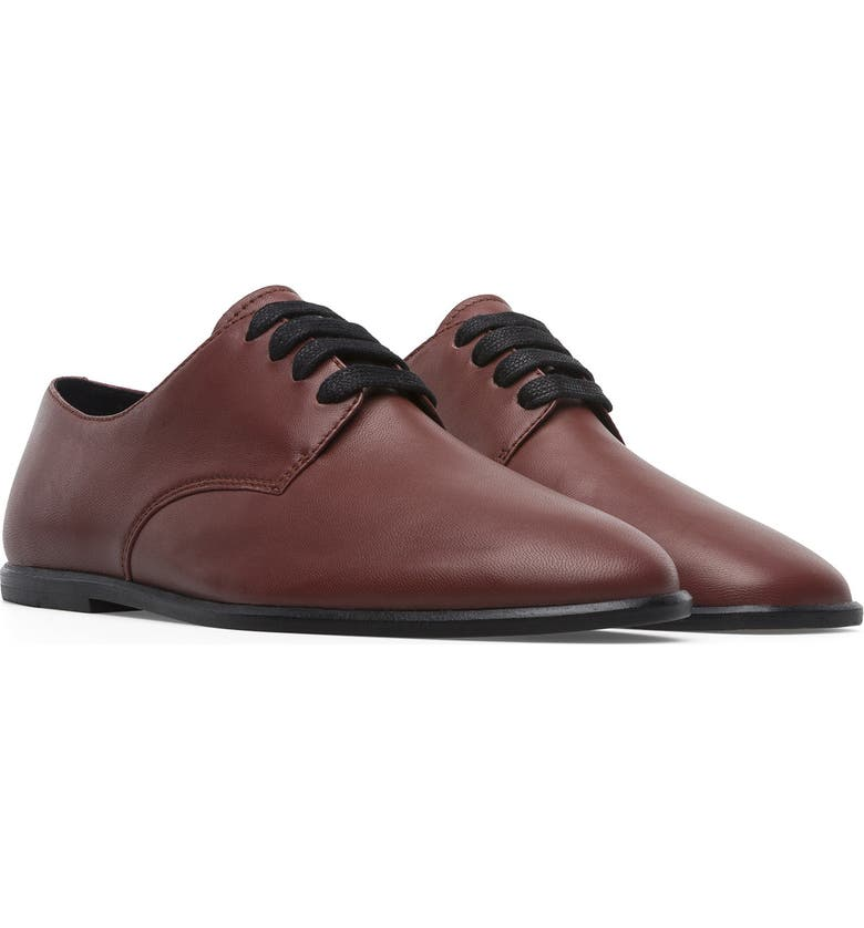 CAMPER Mixed Toe Leather Derby, Main, color, MEDIUM BROWN