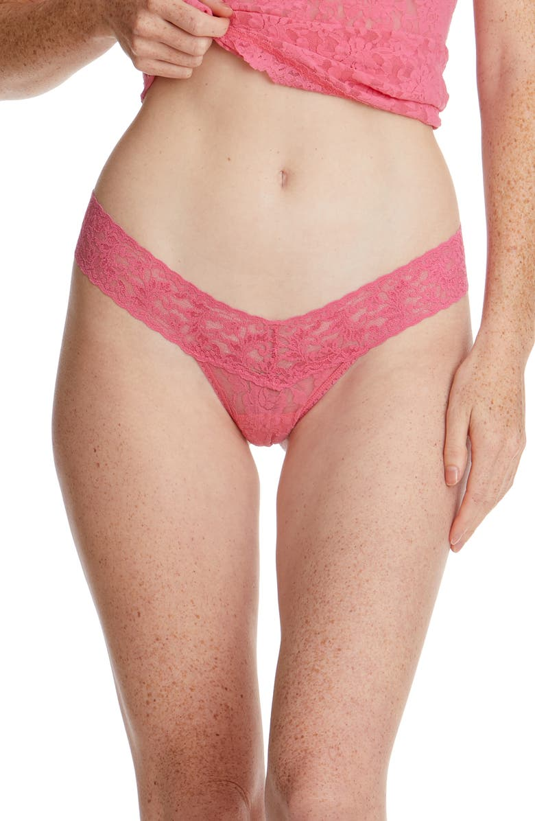 HANKY PANKY Signature Lace Low Rise Thong, Main, color, SUGAR RUSH PINK