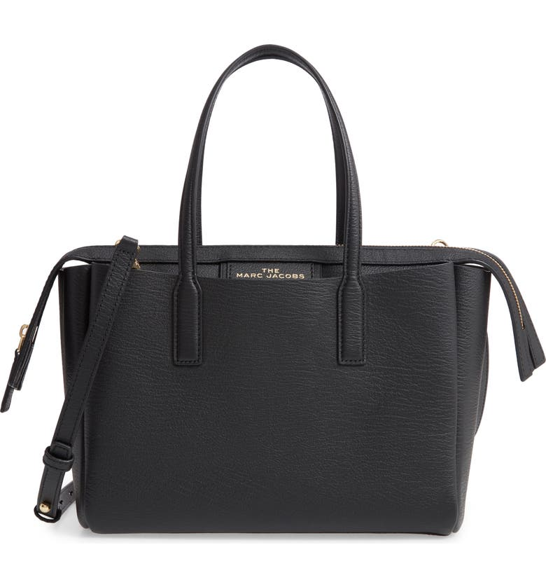 THE MARC JACOBS Marc Jacobs The Protegé Mini Leather Tote, Main, color, 001