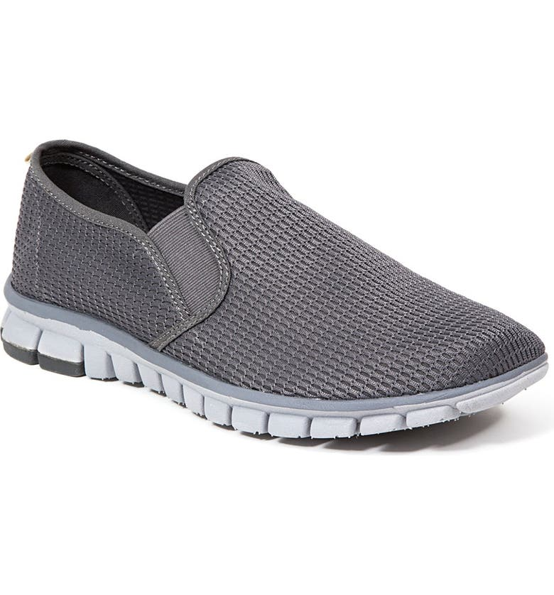 DEER STAGS No Sox Wino Slip-On Sneaker - Wide Width Available, Main, color, DARK GREY