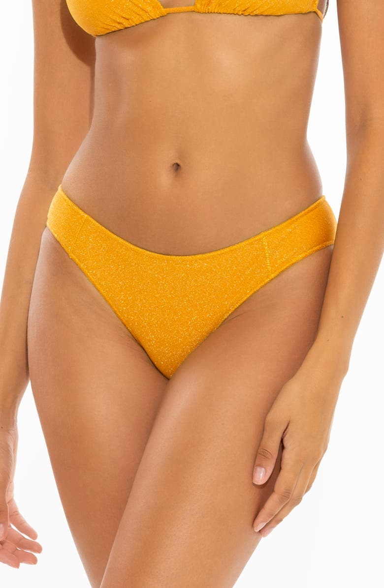 BECCA Madison Adela Hipster Bikini Bottoms, Main, color, GOLD