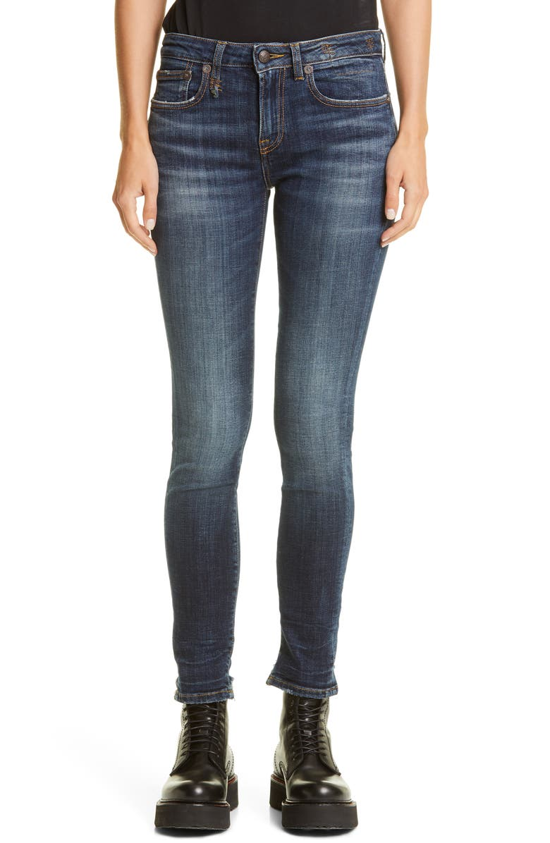 R13 Alison Skinny Jeans, Main, color, HOWELL INDIGO