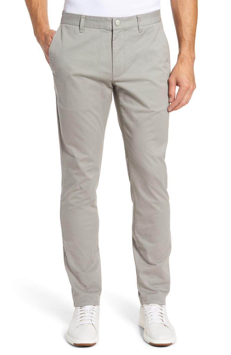 BONOBOS Tailored Fit Stretch Washed Cotton Chinos, Main, color, GREY DOGS