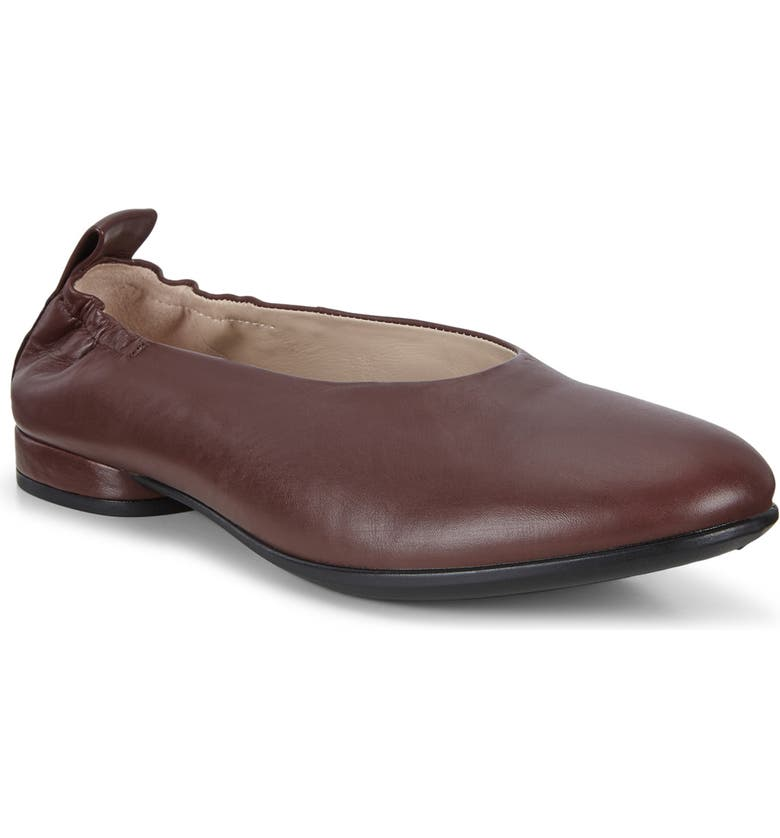 ECCO Anine Ballet Flat, Main, color, CHOCOLATE LEATHER