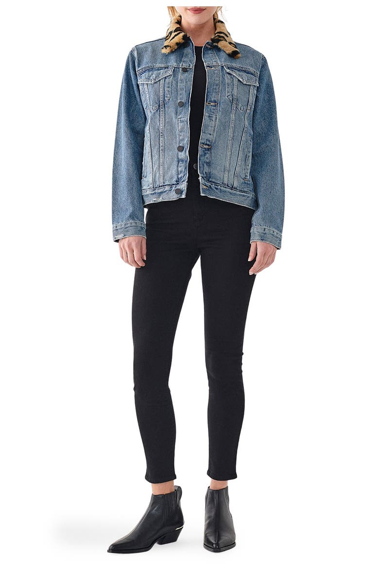 DL 1961 Clyde Classic Trucker Jacket, Main, color, OSLO