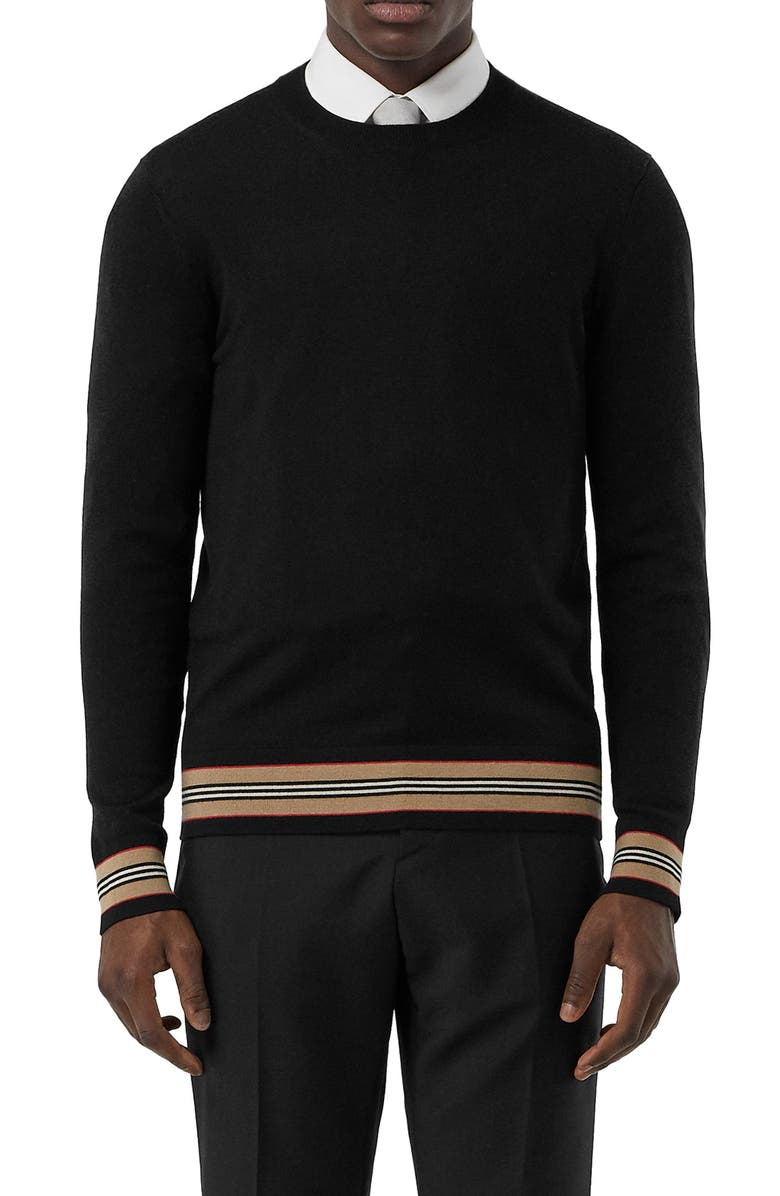 BURBERRY Barner Crewneck Sweater, Main, color, 001
