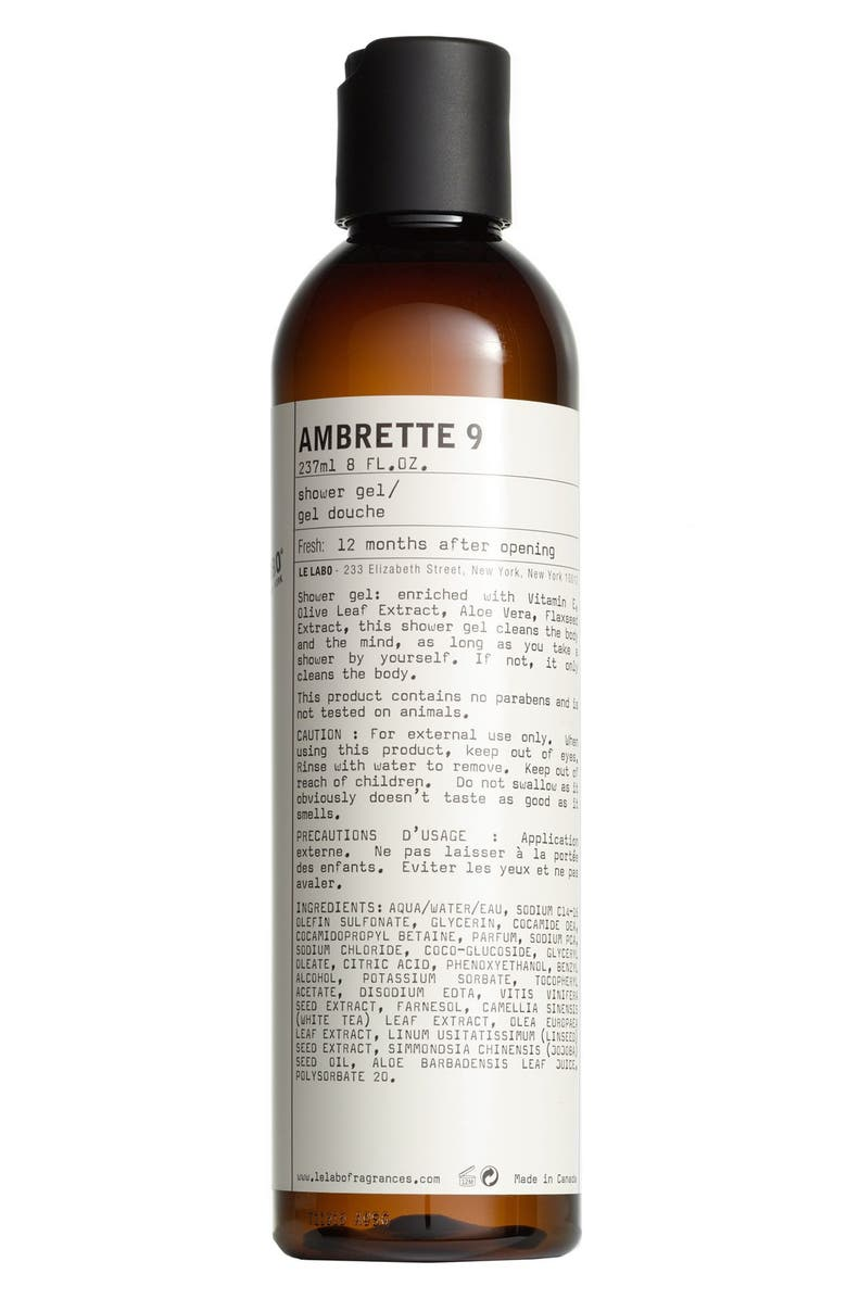 LE LABO Ambrette 9 Shower Gel, Main, color, No Color