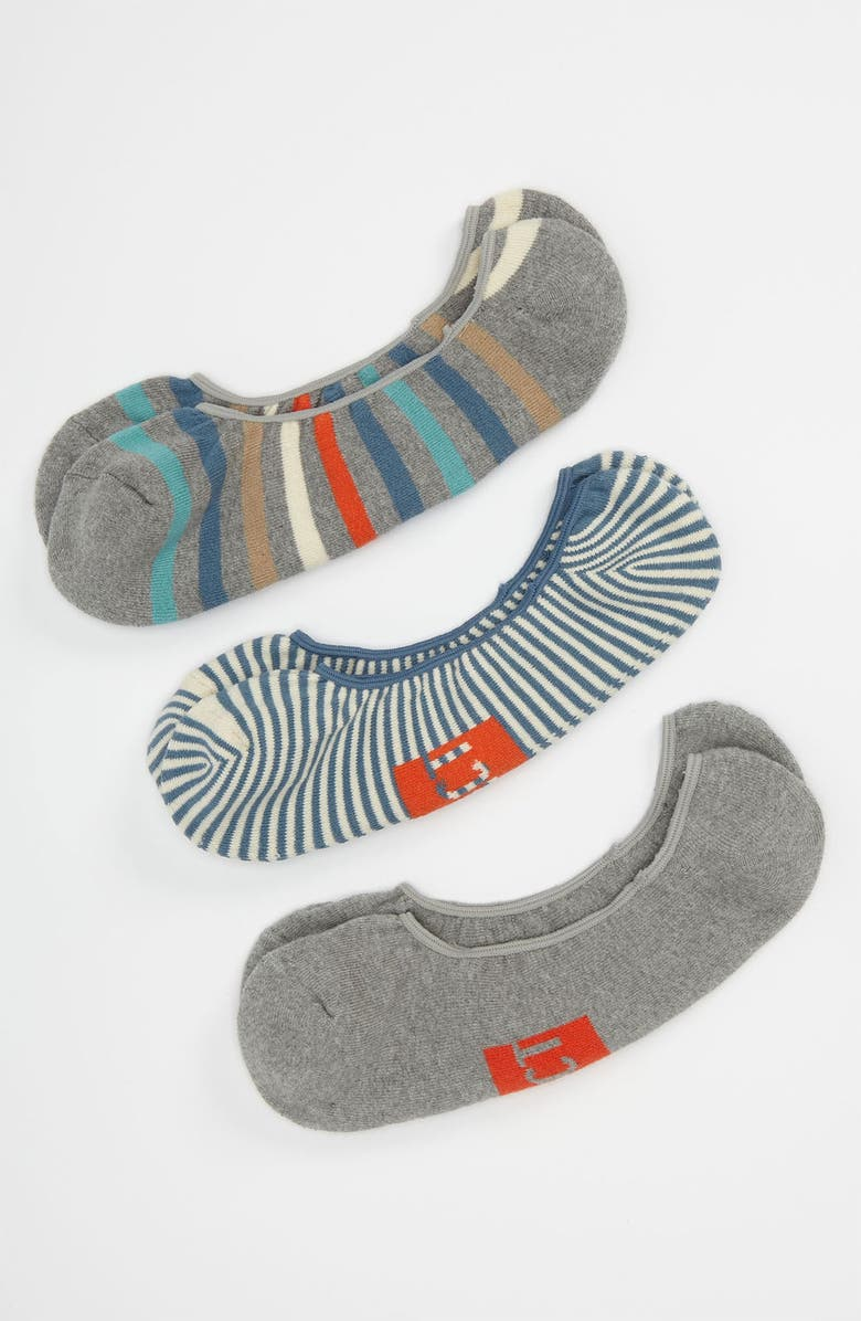 PACT 'Seed' No-Show Socks, Main, color, GREY MULTI