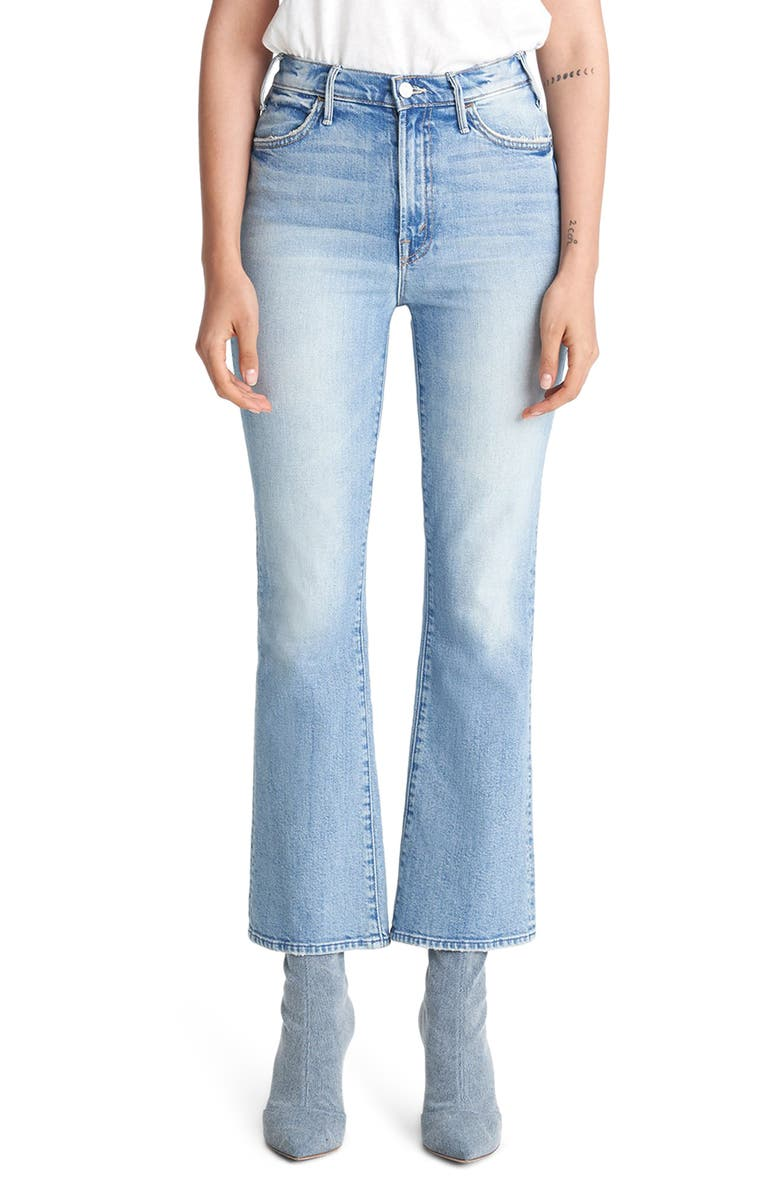 MOTHER The Hustler Ankle Bootcut Jeans, Main, color, 420