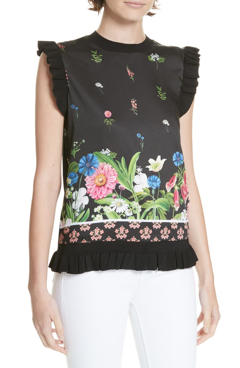 TED BAKER LONDON Florence Sleeveless Top, Main, color, 001