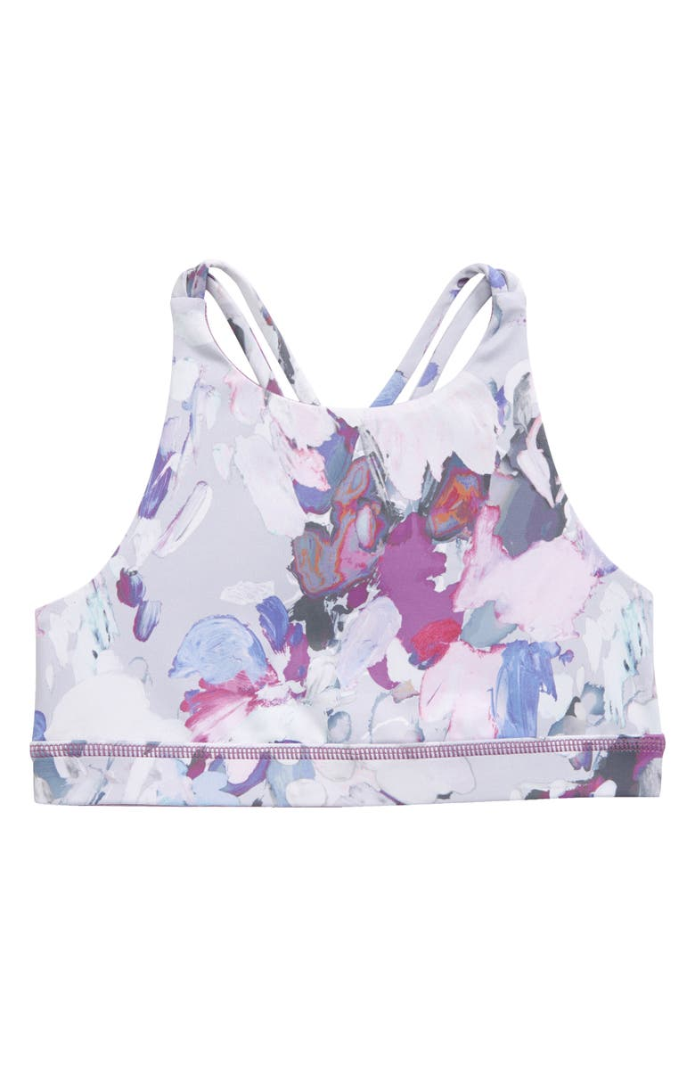 ZELLA GIRL Live In Reversible Strappy Bra, Main, color, WHITE PAINTERLY MARKS PRINT