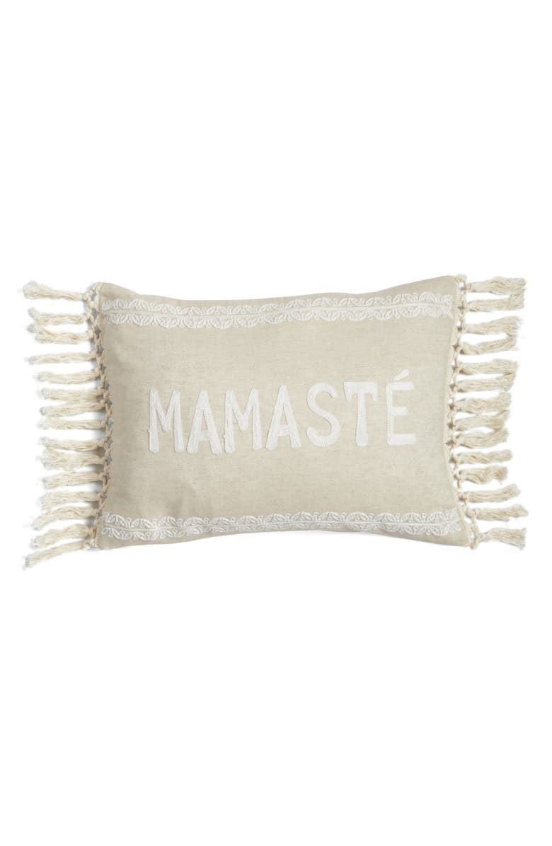 LEVTEX Mamaste Accent Pillow, Main, color, NATURAL