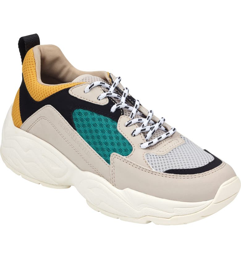 KENDALL + KYLIE Dad Sneaker, Main, color, TAUPE MULTI
