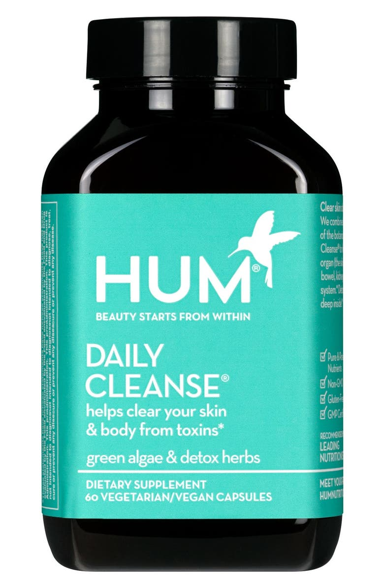 HUM NUTRITION Daily Cleanse<sup>®</sup> Clear Skin and Body Detox Dietary Supplement, Main, color, NO COLOR