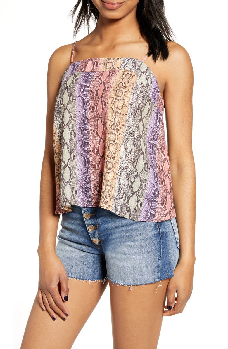 HIATUS Snake Print Tank, Main, color, 600