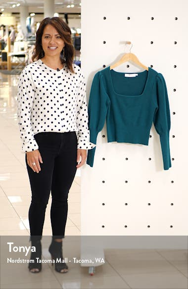 Long Sleeve Square Neck Sweater, sales video thumbnail