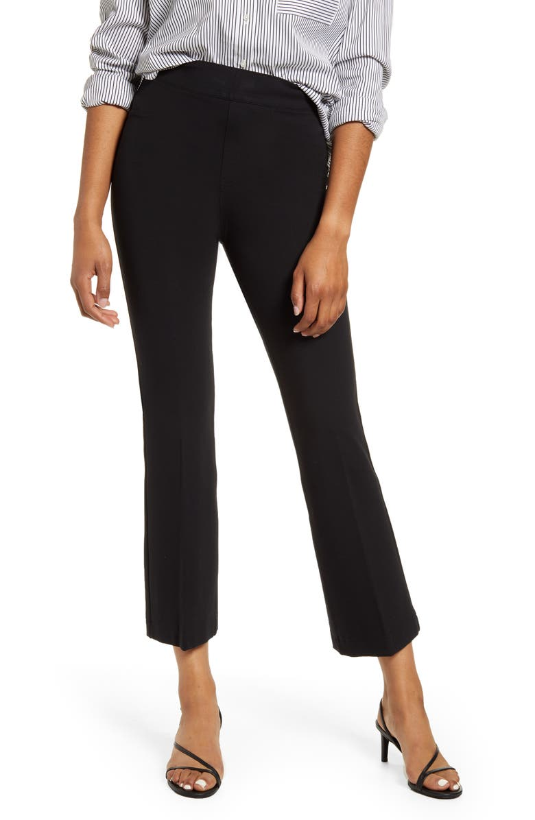 SPANX<SUP>®</SUP> Ponte Crop Flare Pants, Main, color, 001