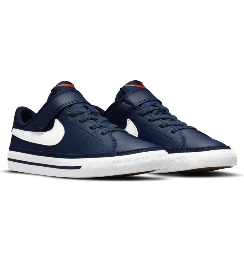 NIKE Court Legacy Sneaker, Main, color, NAVY/ LIGHT BROWN/WHITE