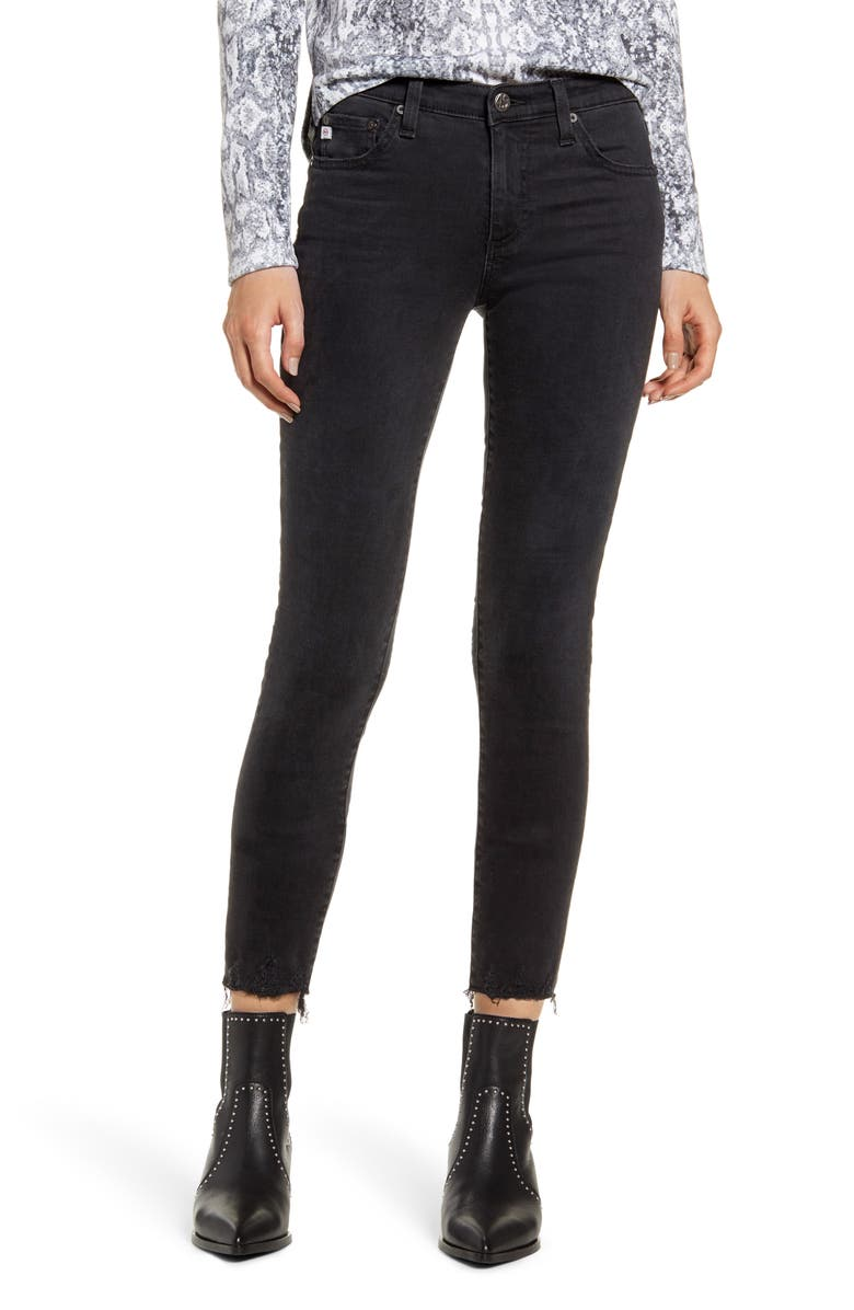 AG The Legging Ankle Super Skinny Jeans, Main, color, 2 YEARS BLACK ESSENCE