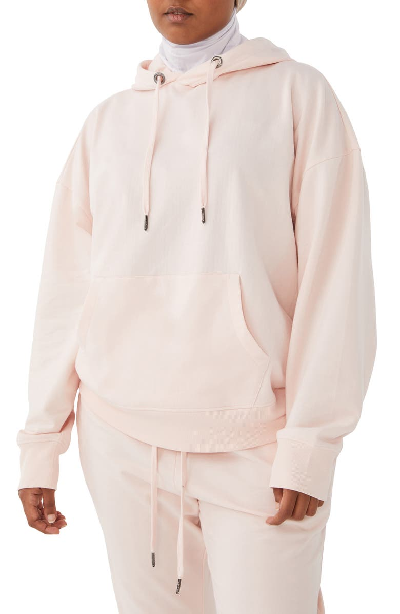 HUMAN NATION Gender Inclusive Movement Organic Cotton Blend Hoodie, Main, color, SHELL PINK