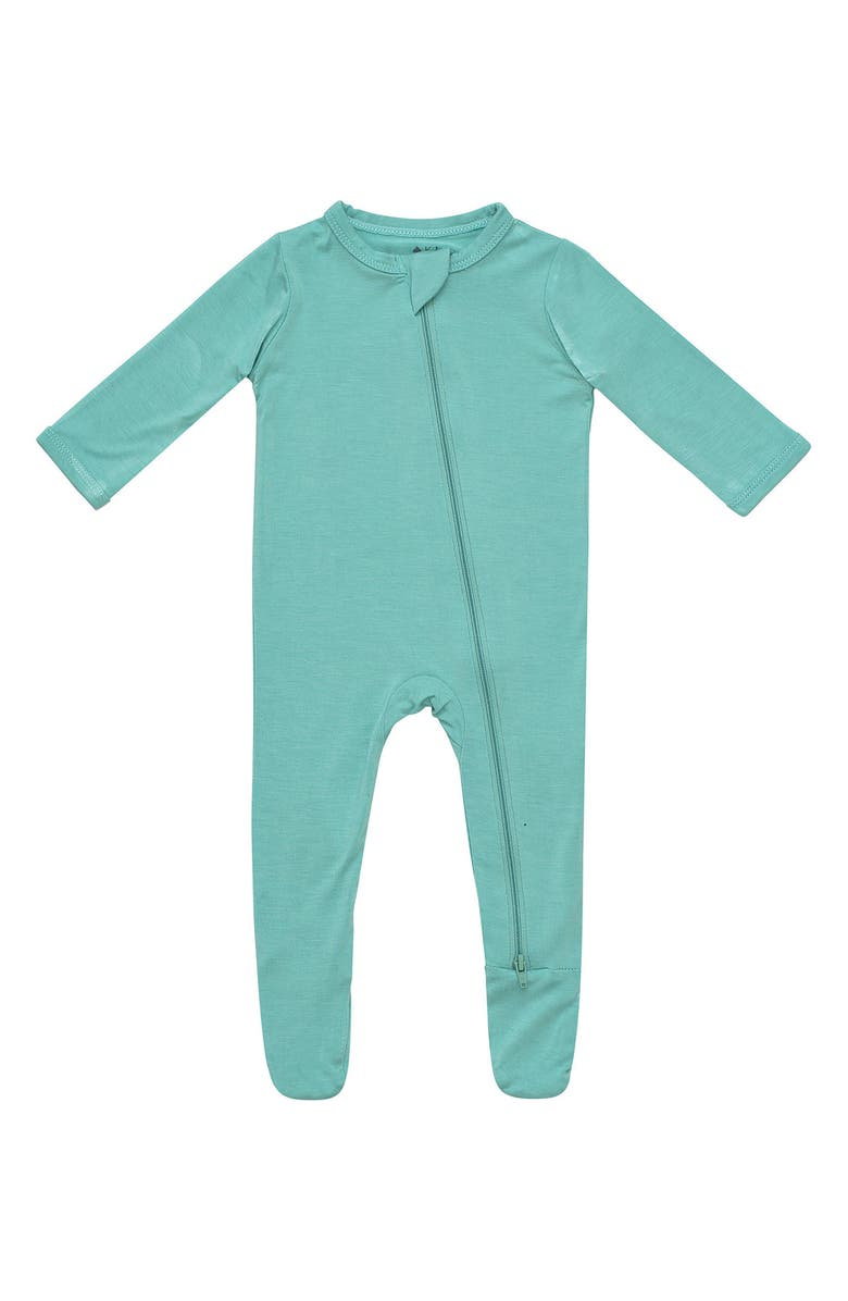 KYTE BABY Zip-Up Footie, Main, color, JADE