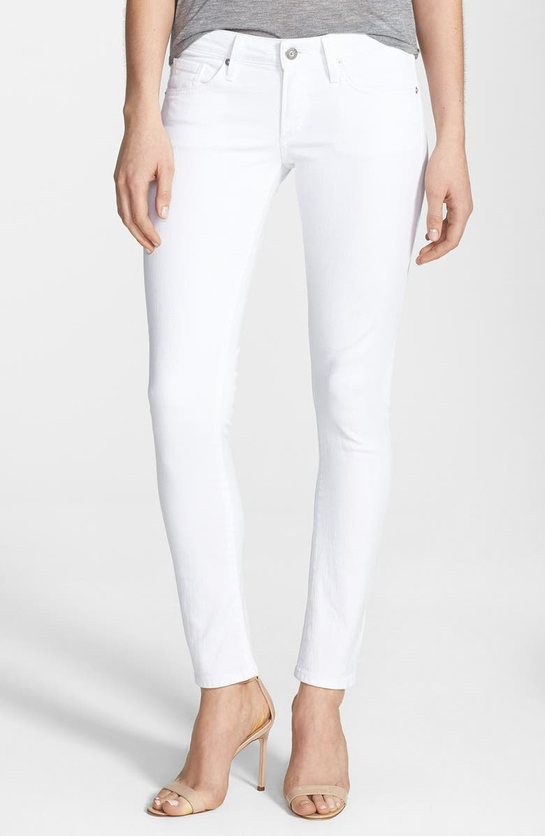 CITIZENS OF HUMANITY 'Racer' Low Rise Skinny Jeans, Main, color, SANTORINI WHITE