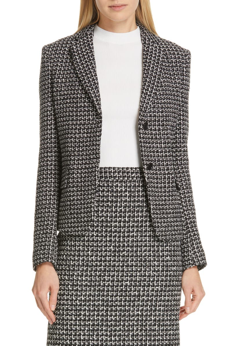 BOSS Jomanda Tweed Suit Jacket, Main, color, 001