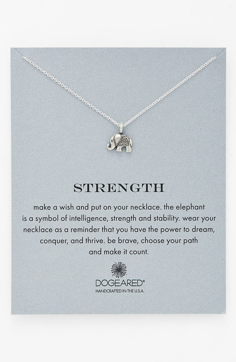 DOGEARED 'Reminder - Strength' Pendant Necklace, Main, color, 040