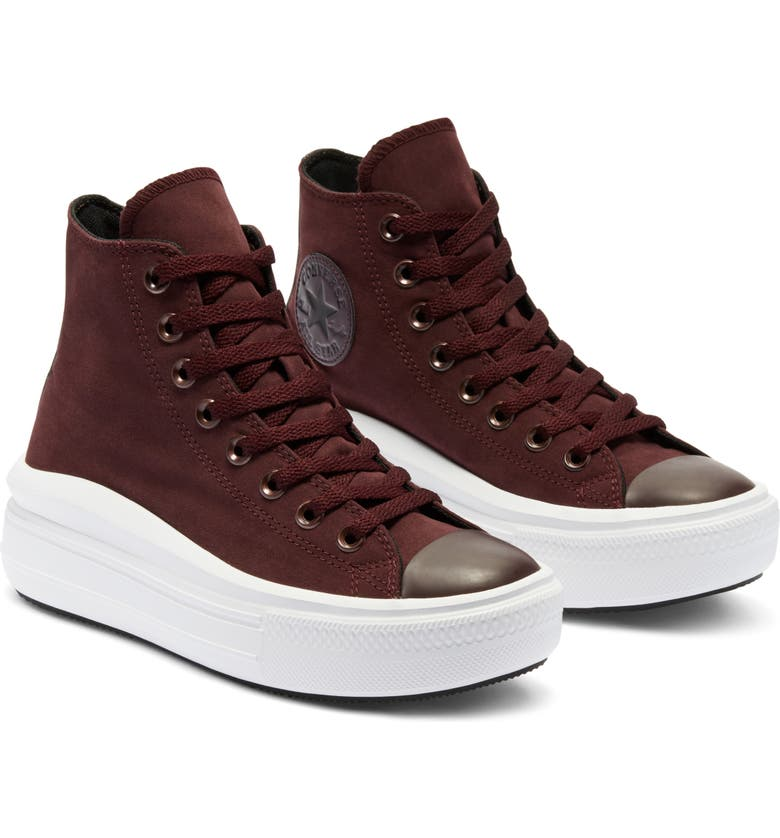 CONVERSE Chuck Taylor<sup>®</sup> All Star<sup>®</sup> Move High Top Platform Sneaker, Main, color, BLACK CURRANT/ BLACK/ WHITE