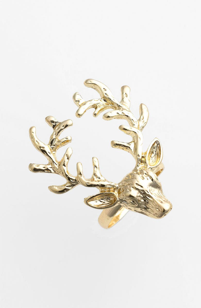 CAROLE Stag Ring, Main, color, GOLD