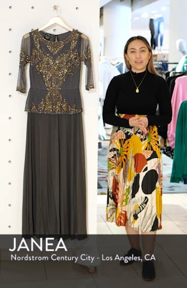 Bead Embellished Gown, sales video thumbnail