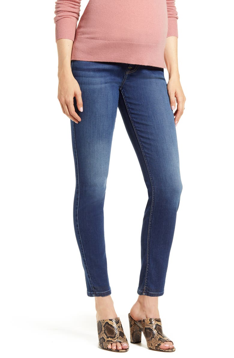 7 FOR ALL MANKIND<SUP>®</SUP> b(air) Ankle Skinny Maternity Jeans, Main, color, 400