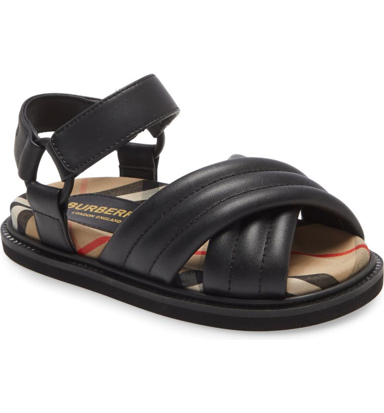 BURBERRY Clangley Sandal, Main, color, 001