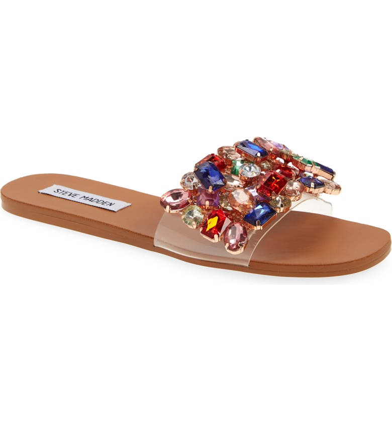 STEVE MADDEN Brionna Embellished Slide Sandal, Main, color, MULTI