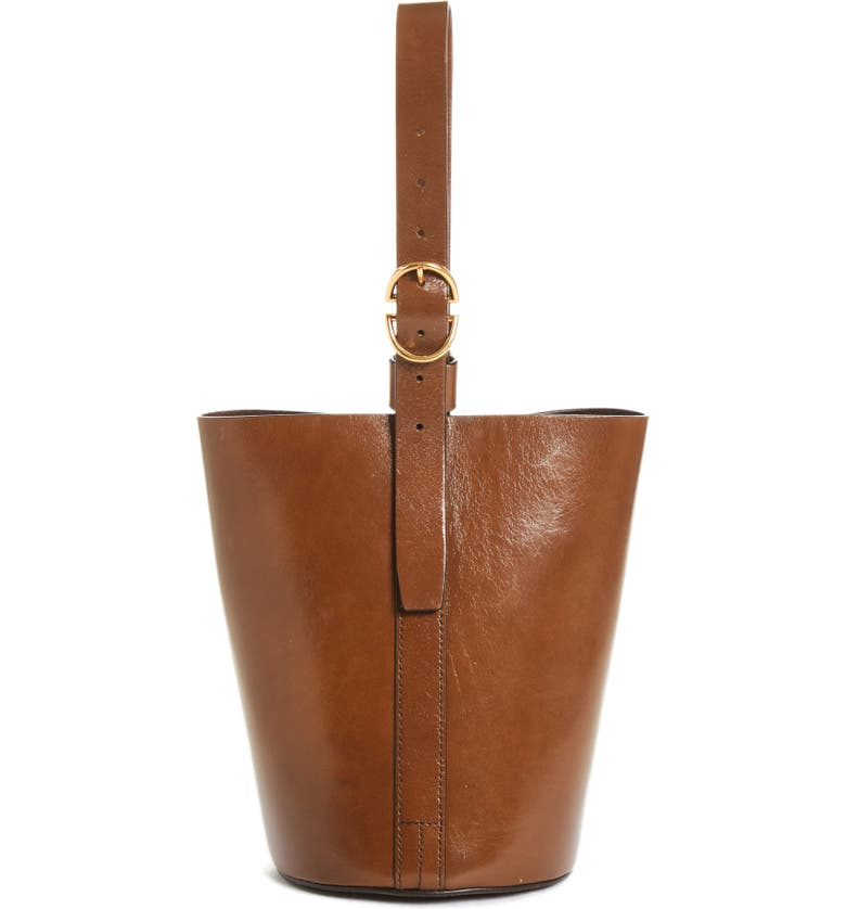 TRADEMARK Small Leather Bucket Bag, Main, color, 201